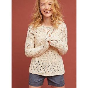 Anthropologie Akemi & Kin Slouchy Sweater, Cream